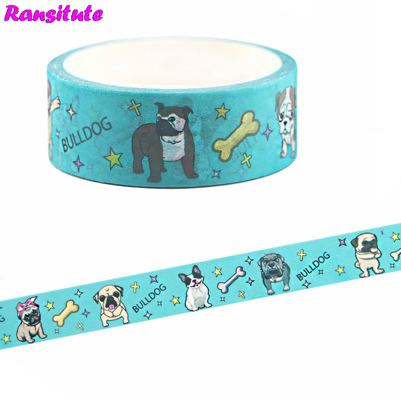 Ransitute Cute Dog Children's Toys Washi Tape Traffic Tape Toy Car Decoration Hand Account Sticker Masking Decoration Tools R664