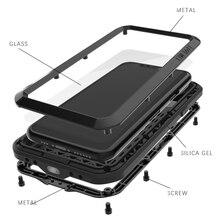 Funda de Metal Love Mei para iPhone 11 Pro Max, funda armadura resistente, a prueba de golpes, anticaídas