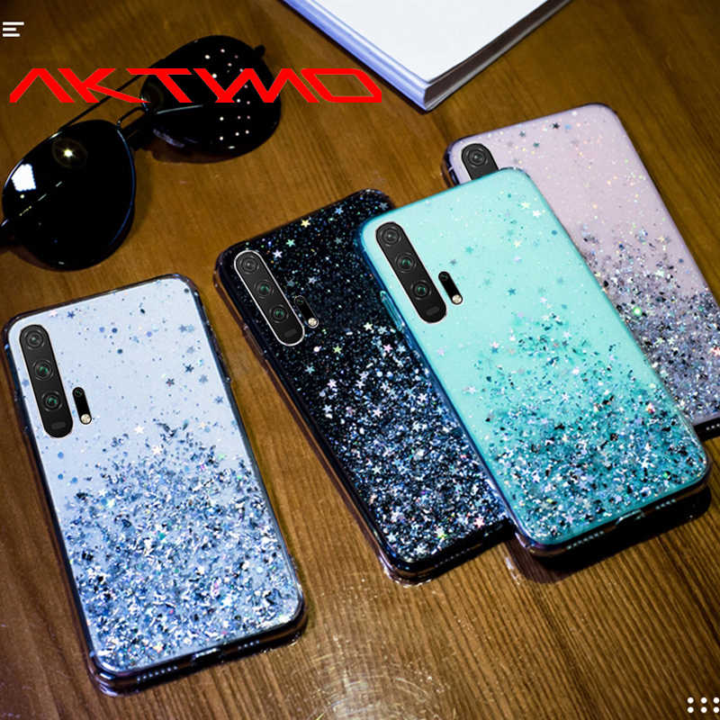 Fashion Bling Glitter Star Cover For Huawei P30 Honor 8S 8A 8X 8X 7A 7C 9X 20 Pro 8 9 10 Lite Y5 Y6 Y7 2019 JAT-29 AUM-L41 Case