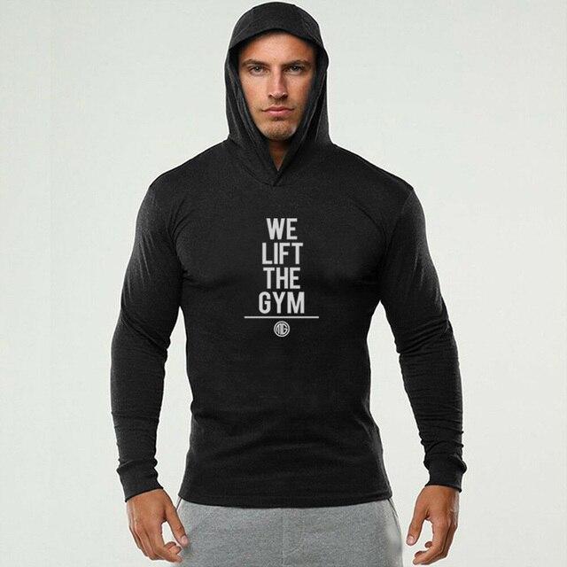 Jesień nowe męskie swetry Fitness Kulturystyka Zipper Slim
