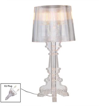 Akrylowa lampa stołowa lampa do sypialni salon lampa biurkowa studium łóżko lampka do czytania książek duch noc światła nocne oświetlenie E27 ue wtyczka tanie i dobre opinie Yurnoetee CN (pochodzenie) Łóżko pokój WHITE W górę iw dół Desk lamps Table lamp Desk lamp 90-260 v Pokrętło przełącznika