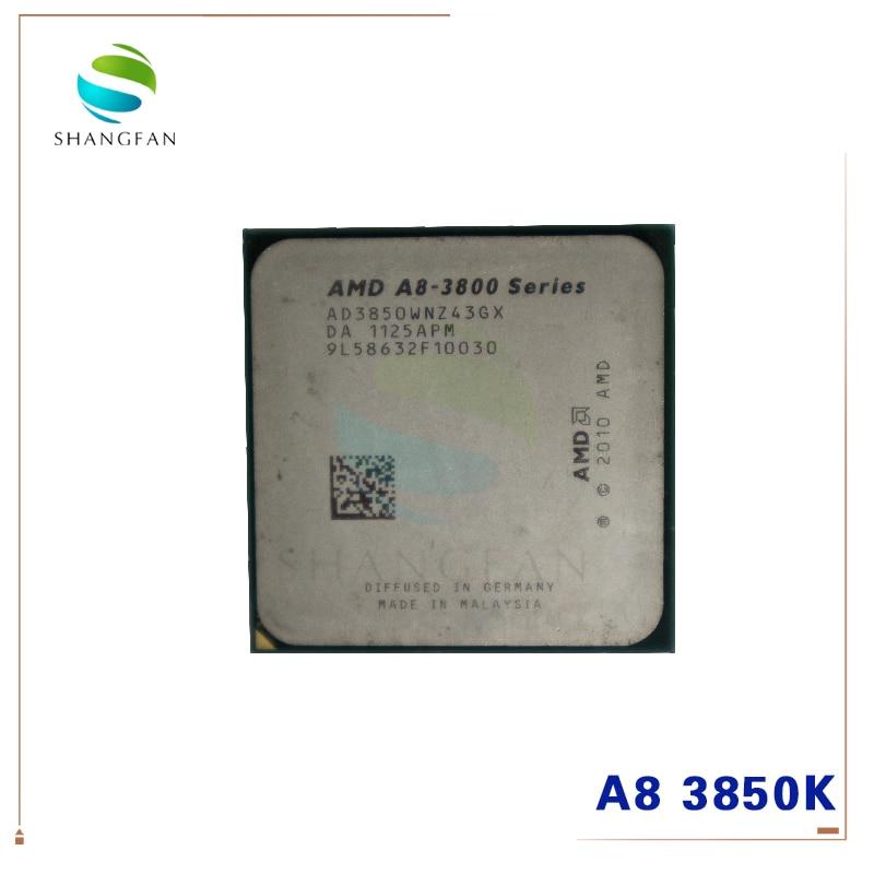 AMD A8-Series A8 3850 A8-3850 2.9GHz 100W Quad-Core CPU Processor AD3850WNZ43GX A8 3850K Socket FM1/ 905pin