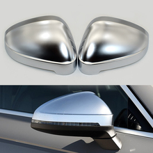 1 Pair Of Car Auto Rearview Mirror Shell Cover Protection Capmatte Chrome For Audi B9 A4 A5 S4 Rearview Wing Mirror Cap New carbon fiber replace rearview mirror cap covers shell for audi a4 b9 standard allroad 2017 with side assist 2pc white chrom