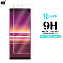купить 10 Pcs Tempered Glass For Sony Xperia 5 Glass Screen Protector 2.5D 9H Premium Tempered Glass For Sony Xperia 5 Protective Film дешево