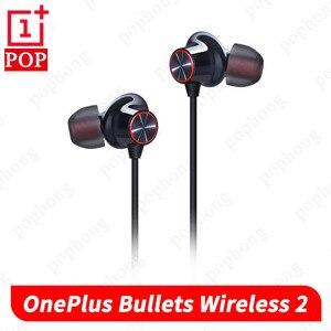 Image 1 - Беспроводные наушники OnePlus Bullets 2, оригинальные гибридные магнитные наушники с управлением AptX, Поддержка Google Assistant, быстрая зарядка, для Oneplus 7, 7T, 7Pro