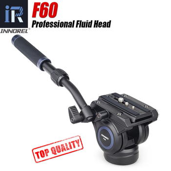 F60 Panoramic Hydraulic Camera Tripod Head adjustable Handgrip Video Fluid Head for Monopod Slider Manfrotto Quick Release Plate цена 2017