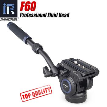 F60 panoramiczny hydrauliczny statyw kamery głowy regulowany uchwyt wideo głowica statywu dla Monopod suwak Manfrotto płyta szybkiego uwalniania tanie i dobre opinie INNOREL Aluminium 10KG 0 86kg 104mm 27cm-41cm 60mm 50mm*92mm -52°~+91°