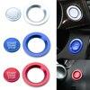 Cubierta de botón de arranque de motor sin llave para coche, con anillo para Land Rover, Range Rover, Evoque Sport, Jaguar XJ, XF, Xe, f-pace, tipo F