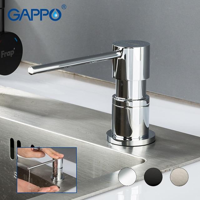 GAPPO キッチンシンクソープディスペンサー内蔵ローションポンププラスチックボトルバスルーム、キッチン液体石鹸多色