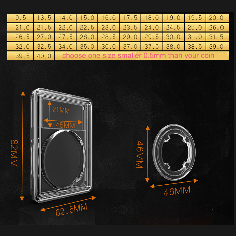 New!!! VI COIN Case Graded IDENTIFICATION COIN DISPLAY SLAB/slabs Storage  CLEAR COIN SNABS/slabs Clear Color 10 Pcs/lot