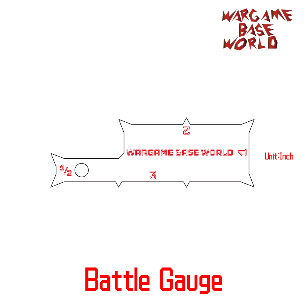 Wargame Base World - Combat Gauge - Measure Tooling - Ruler For Warhammer
