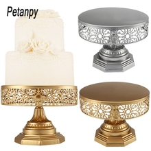 New Iron Metal Round Cake Stand Wedding Birthday Party Display Holder Stands Home Kitchen Reuseble Baking Cakes Rack Tools