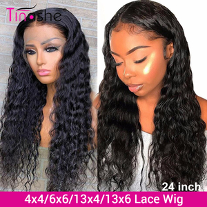 Tinashe Water Wave Wig 13x6 Lace Front Human Hair Wigs 250 Density Lace Wig 4X4 6x6 Closure Wig 28 30 inch Curly Human Hair Wig
