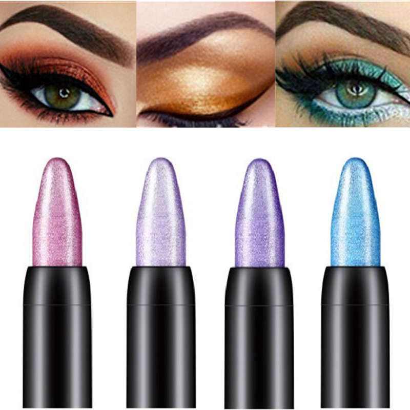 15 Colors Highlighter Eyeshadow Pencil Waterproof Long Lasting Glitter Matte Eye Shadow Stick Makeup Pigment Pen Cosmetics