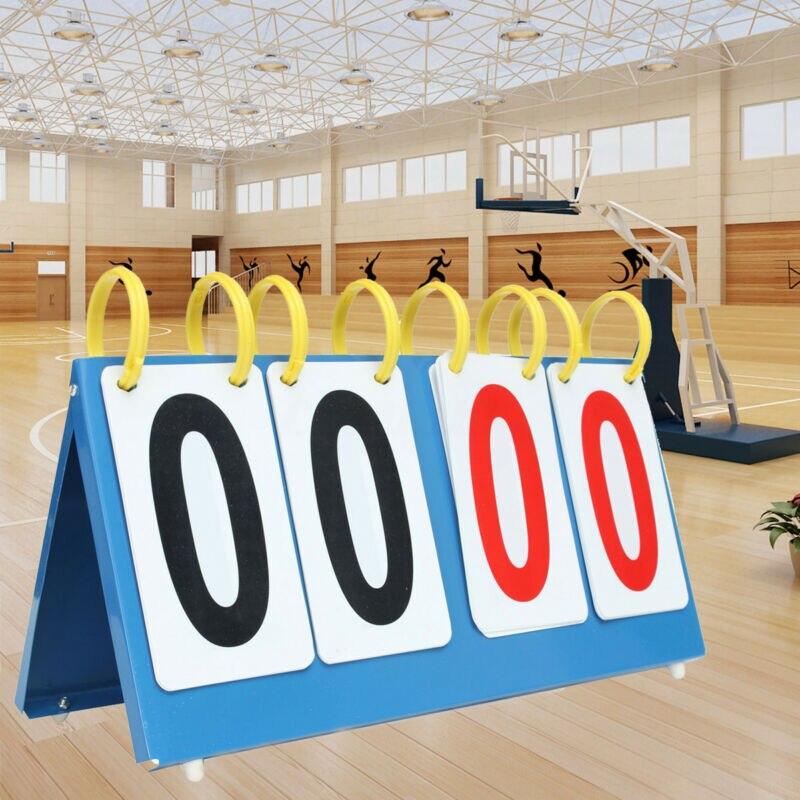 4 Digit Scoreboard Sports Flip Score Board Volleyball Basketball Scorer Tennis Portable Folding Competition Scoreboards Football