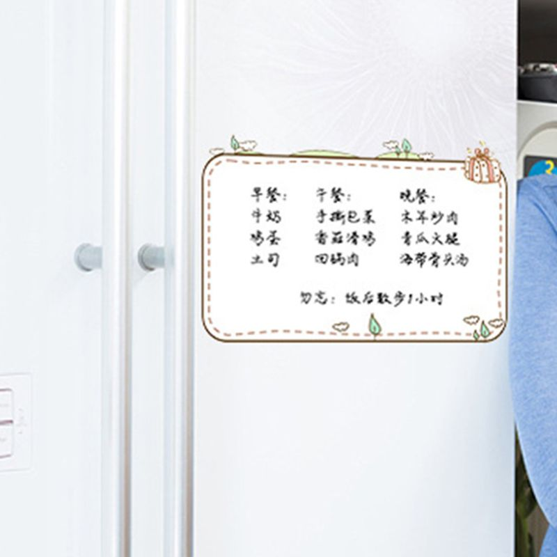 Rectangle Soft Magnetic Whiteboard Reminder Magnet Erase Fridge Message Board