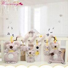 Детские игрушки для сна, для новорожденных, комфортная музыкальная плюшевая игрушка-погремушка, кукла, многофункциональное полотенце, слюнявчик, полотенце коала, кукла для сна