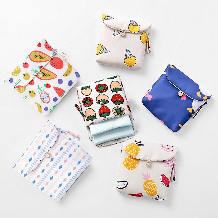 Women Small Packing Organizers Bag Pouch Travel Packing Sanitary Napkin Small Makeup Card Earphone Lipstick Storage Case