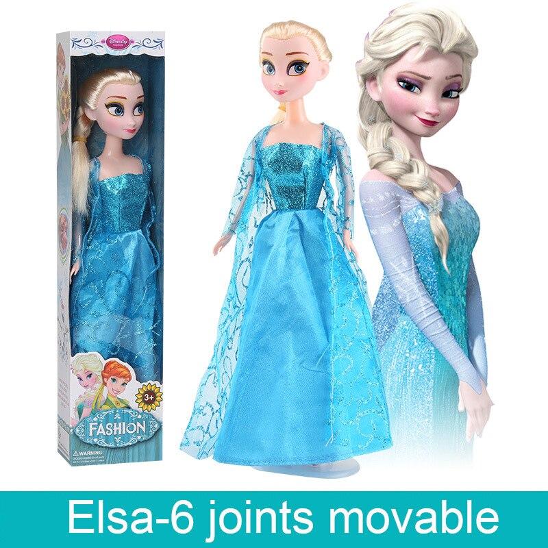Disney Toy Frozen Princess Anna Elsa Dolls Snow Queen Children Girls Toys Birthday Christmas Gifts For Kids Cartoon Doll