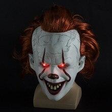 Stephen King Si Capitolo delle Due LED Pennywise Maschera Da Clown Maschera Masque Cosplay Movie Casco Prop maschere