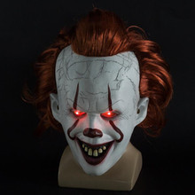 Stephen Kings It Chapter Two LED Pennywise Clown Mask Masque Movie Cosplay Helmet Prop masks