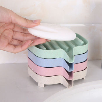 Bathroom Draining Soap Dish Drainage Box Storage Kitchen Tub Sponge Cup Rack Holder 1pc