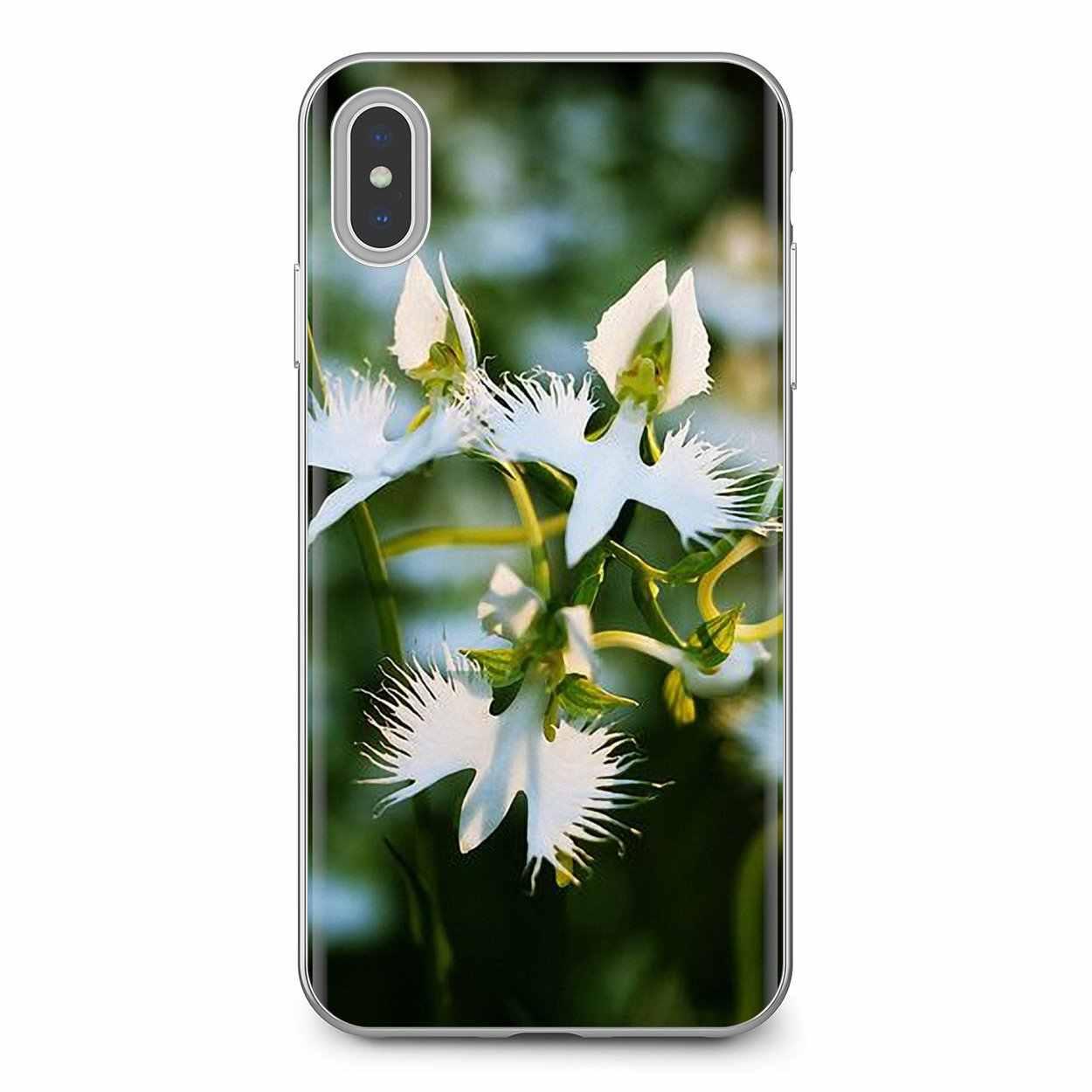 Dành Cho Samsung Galaxy Samsung Galaxy A10 A30 A40 A50 A60 A70 S6 Hoạt Động Note 10 Plus Edge M30 Silicone Trắng Cò hoa Lan Radiata