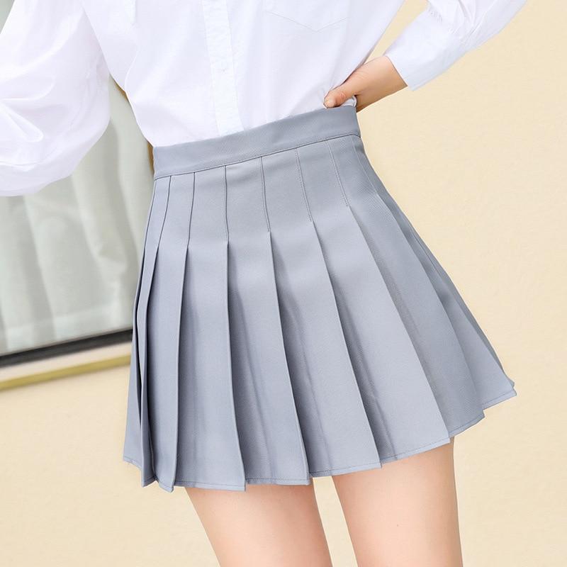 QRWR Fashion 2021 Kawaii Summer Women Skirts High Waist Cute Sweet Girl's Pleated Skirt Korean Style Mini Skirts for Women
