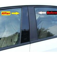 Посты Накладка двери автомобиля для BMW 3 серии, не линяют, защита от солнца на заднее стекло авто 2013-2018 6 шт.