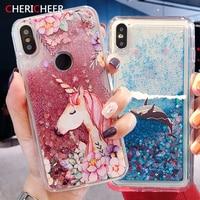 Glitter Liquido Per Il Caso di Xiaomi Redmi Nota 4 4X 5A Prime 5 6 7 8 T 8 T 9S 9 Pro Max Redmi 8A 7A 6A 5A 4A 4X 9A 9C Copertura Unicorno
