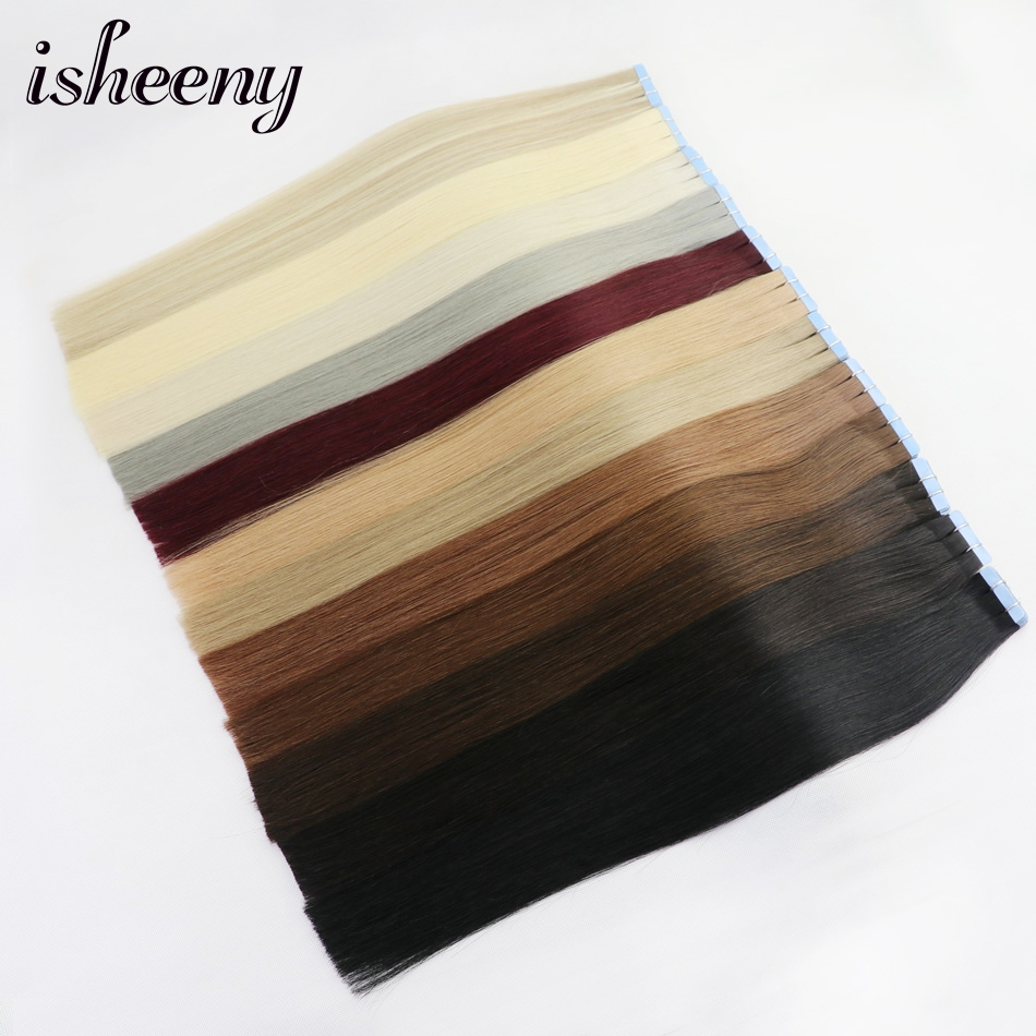 Isheeny Human Hair Tape In 14