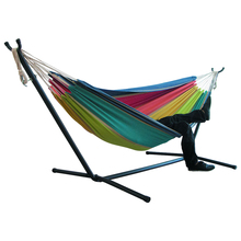 DIY Portable Camping Hammock With Bracket Thickened Widened Hanging Bed Indoor Outdoor Furniture For 1-2 Persons Swing Bed HWC