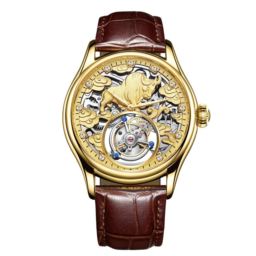 Reloj Hombre Real Tourbillon GUANQIN Men Watch Top Brand Luxury Clock Men Sapphire Hand Wind Mechanical Watch Relogio Masculino