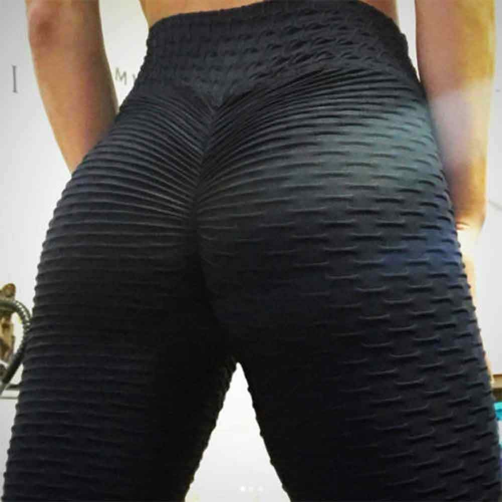 Womens Yoga Pants Anti-Cellulite Leggings Fitness Push Up Trousers Gym Clothes