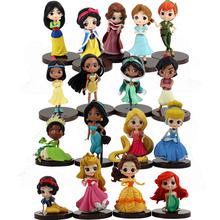 17 sztuk 7cm Q Posket figurki księżniczka królewna śnieżka Belle Mulan Ariel syrenka zaplątani Aladdin Peter Pan spanie piękny Model zabawki tanie tanio Disney CN (pochodzenie) Unisex 8 cm No Fire 6cm-8cm Pierwsze wydanie Dorośli 12-15 lat 5-7 lat 2-4 lat 8-11 lat Wyroby gotowe