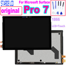 цена на Original Pro7 LCD For Microsoft Surface Pro 7 1866 LCD Display Touch Screen Digitizer Glass Assembly