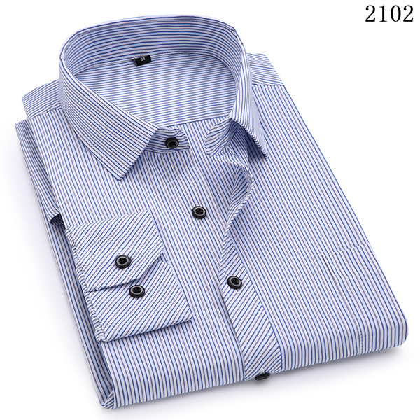 Plus Large Size 8XL 7XL 6XL 5XL Mens Business Casual Long Sleeved Shirt Classic White Black Dark Blue Male Social Dress Shirts 11