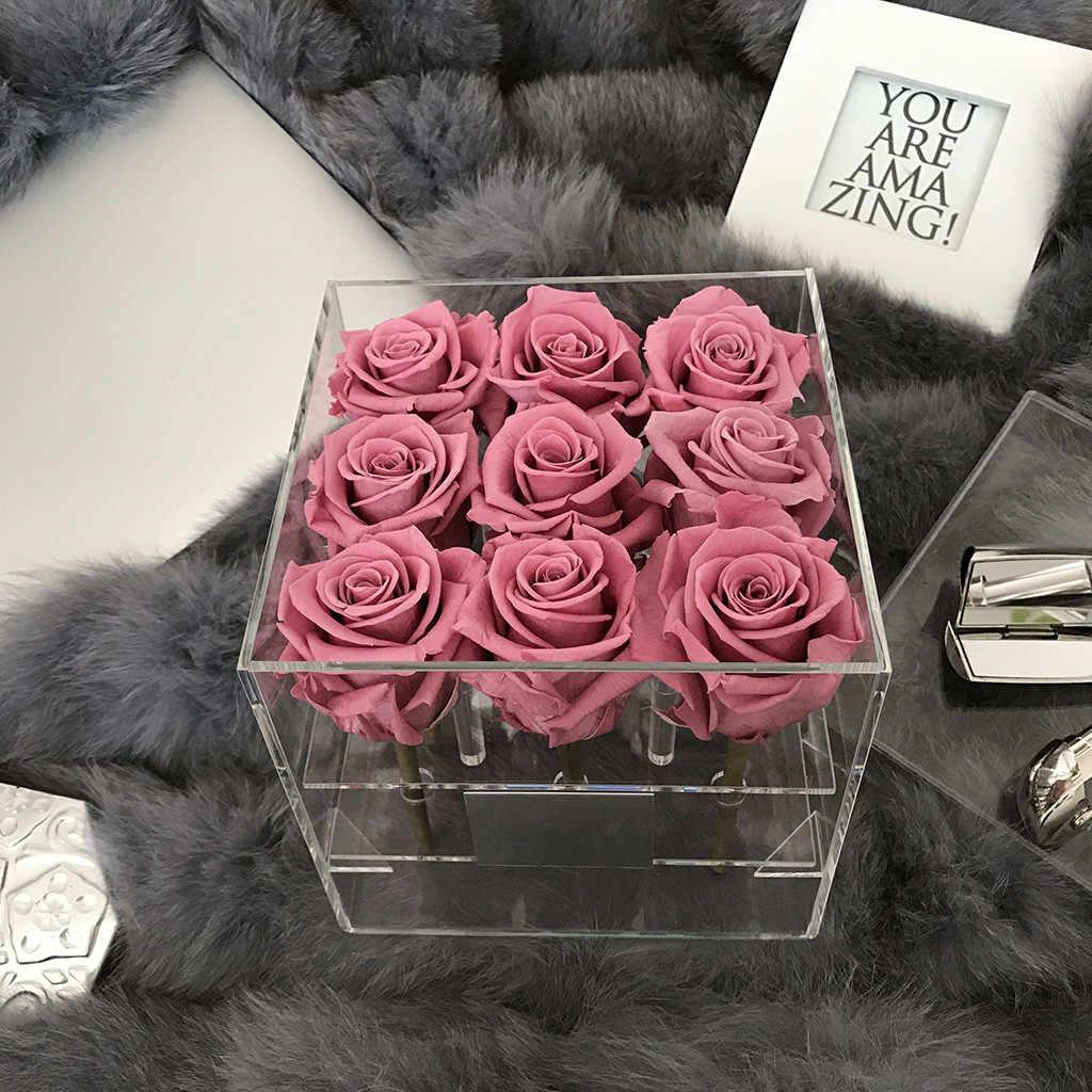 Lớn Chất Liệu Acrylic Hộp Hoa Hồng Có Nắp Lãng Mạn Hoa Fresh-Keep2020 Sản Phẩm Mới Bán Phụ Kiện Dụng Cụ