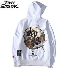 Männer Hip Hop Hoodie Sweatshirt Stickerei Kran Harajuku Streetwear Hoodie Fleece 2020 Herbst Baumwolle Mit Kapuze Pullover Übergroßen
