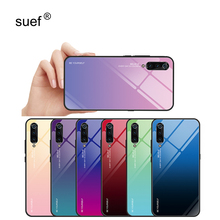 Gradient Tempered Glass Case For Oneplus 5 5T 6 6T 7 7T Smartphone Full Cover Stained Glossy for
