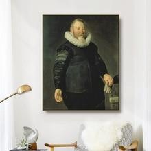 Canvas Art Oil Painting《Portrait of a Man Keyser》Thomas de Keyser Art Poster Picture Wall Decor Home Decoration For Living room