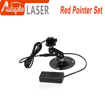 цена на Red Laser Locator Red Dot Beam Marking Positioning Red Focusable Laser Diode Module +Battery Case+mount For marking machine