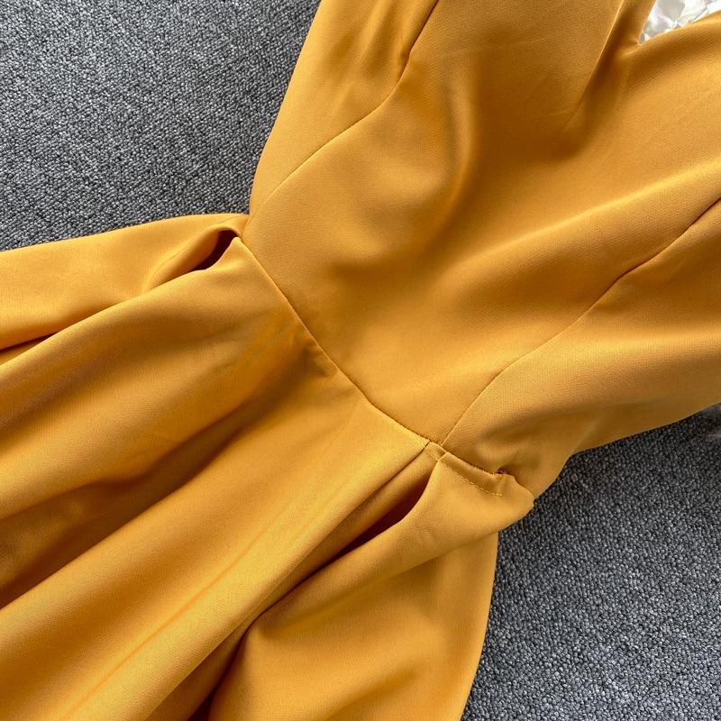 Elegant Vintage Sleeveless V-Neck Bandage Dress 12