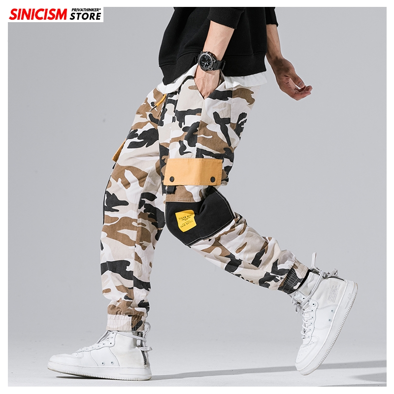 Sinicism Store Men's Autumn Winter Streetwear Cargo Pants 2019 Men Hip Hop Joggers Male Oversize Camouflage Fashion Harem Pants