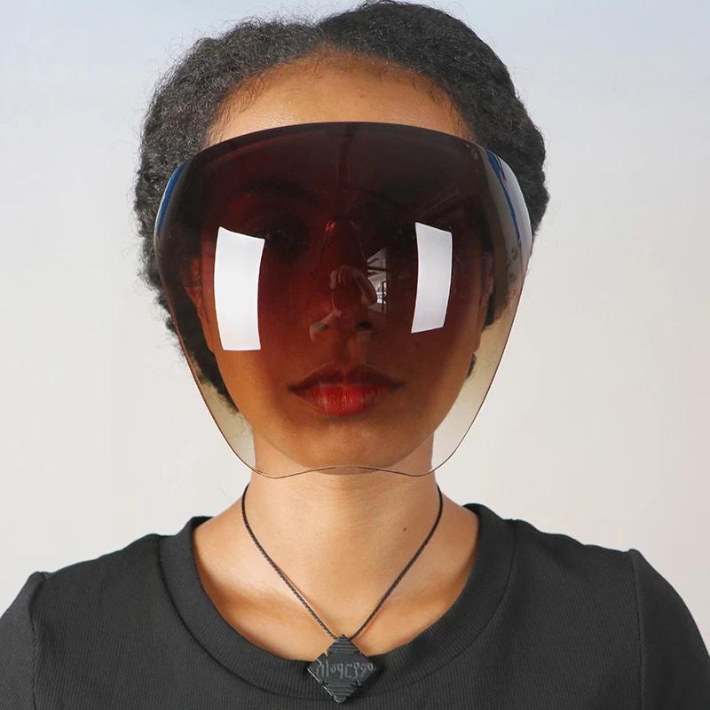 [해외] 여성 남성 보호 안면 보호 안경 고글 풀 페이스 커버 구형 렌즈 안티 스프레이 마스크 안전 선글라스 - 여성 남성 보호 안면 보호 안경 고글