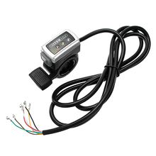 36V электрический велосипед скутер руль скорость емкость батареи индикатор Accelerator палец дроссельной заслонки скорость управления