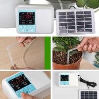 지능형 정원 자동 급수 장치 태양 에너지 식물 물방울 3 방향 공동 드롭 화살표 타이밍 급수 기계