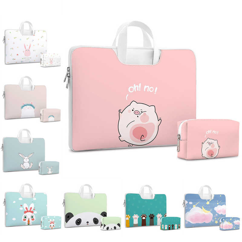 Lucu Tas Laptop Dell Asus Lenovo HP Acer Casing Komputer 11 12 13 14 15 Inci untuk MacBook Air pro Notebook 15.6 Sleeve Case