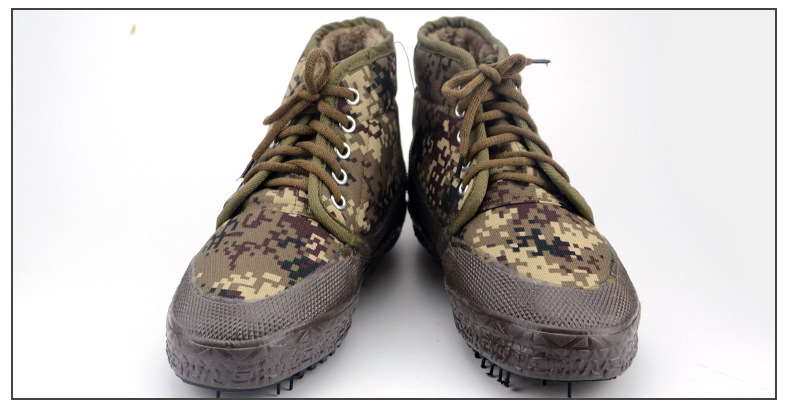Camouflage Cotton Shoes To Keep Warm High To Help The Woodland Camouflage Desert Thickening Plus Velvet Work Wear