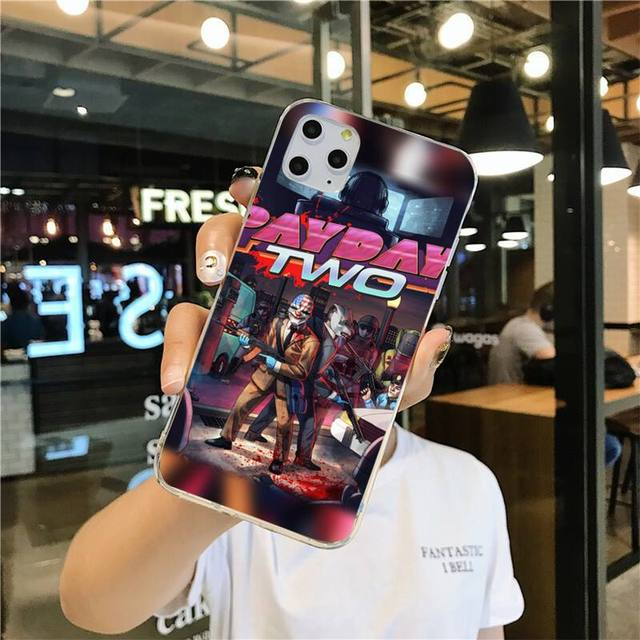 CUTEWANAN Hot game payday 2 Luxury Unique Phone Cover for iPhone 11 pro XS MAX 8 7 6 6S Plus X 5S SE 2020 XR cover